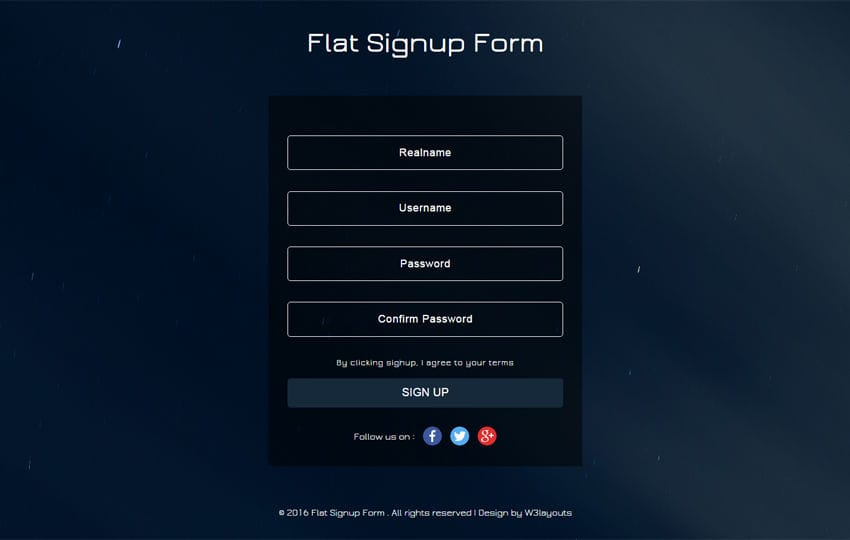 W3layouts  Free Sign Up Template