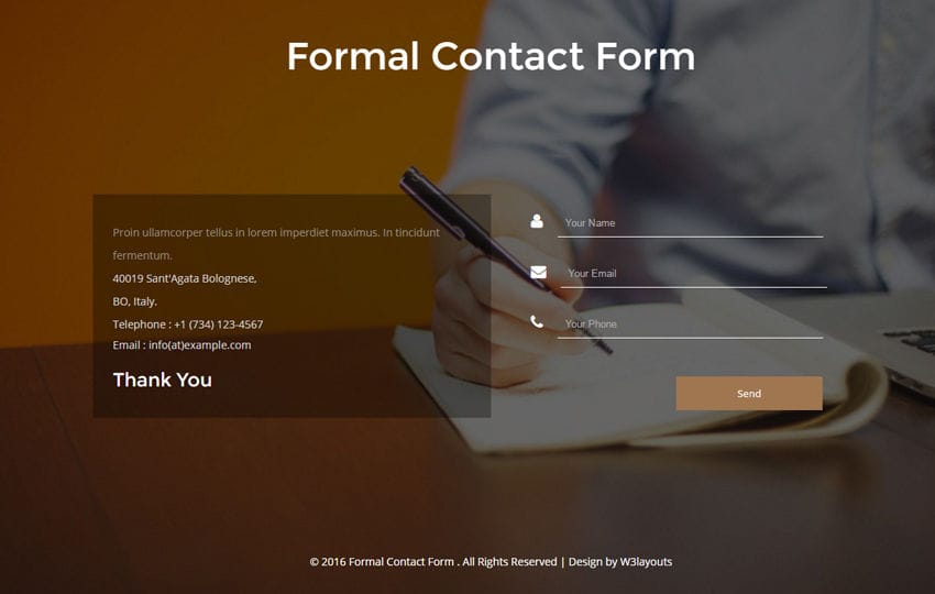 Formal Contact Form a Flat Responsive Widget Template Mobile website template Free