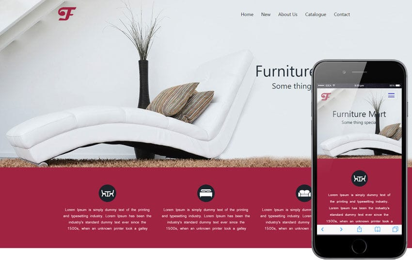 Furniture Mart A Furniture Category Flat Bootstrap Responsive Web Template Mobile website template Free