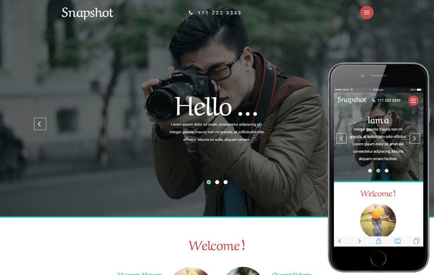 Snapshot a Photo Gallery Category Flat Bootstrap Responsive web Template Mobile website template Free