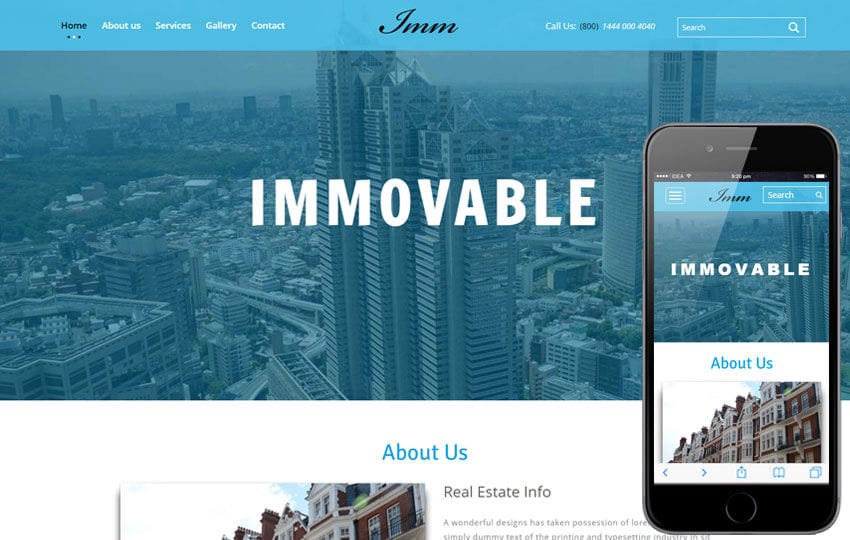 Immovable a Real Estate Category Flat bootstrap Responsive web Template Mobile website template Free