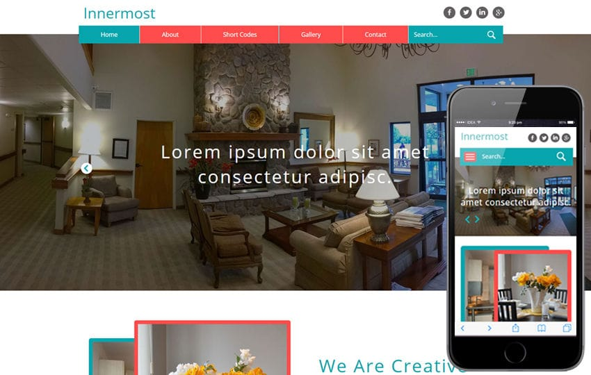 Innermost a Interior Category Flat Bootstrap Responsive Web Template Mobile website template Free
