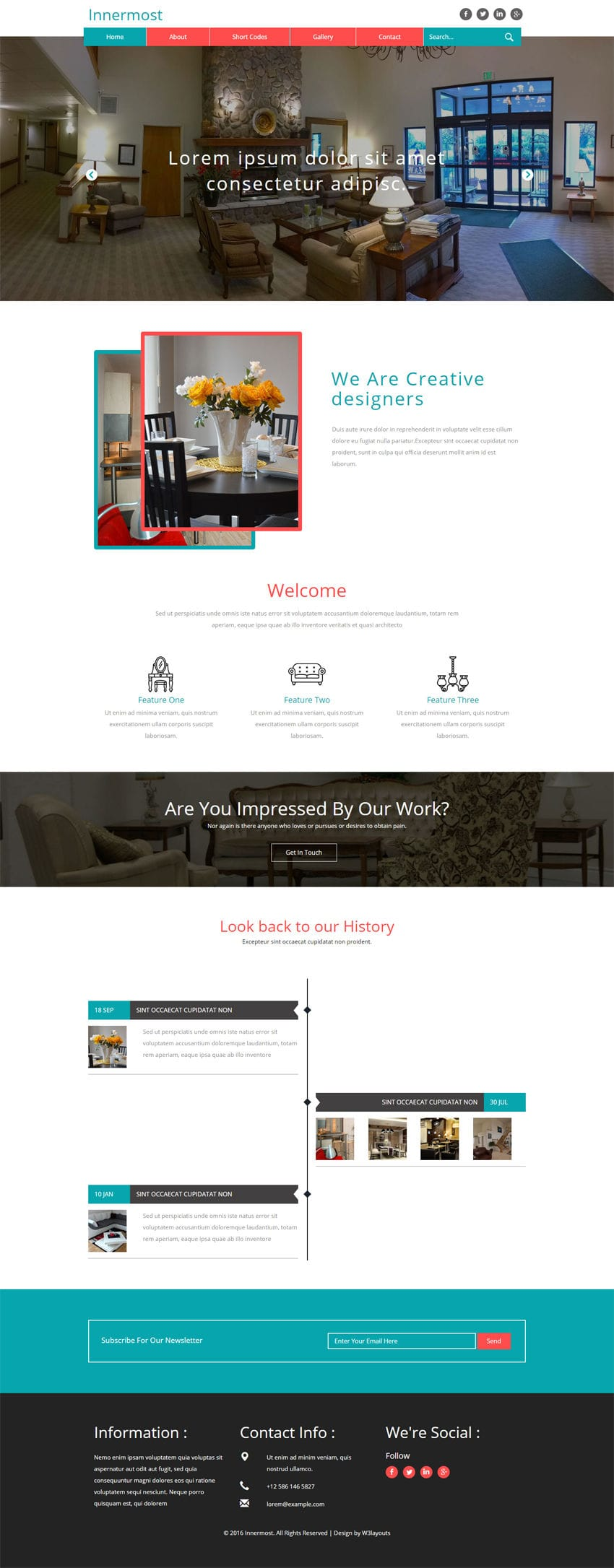 Innermost a interior category flat bootstrap responsive for Interior design responsive website templates edge free download