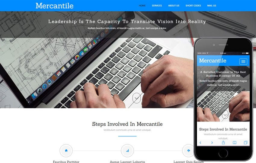 Mercantile a Corporate Business Category Flat Bootstrap Responsive Web Template Mobile website template Free