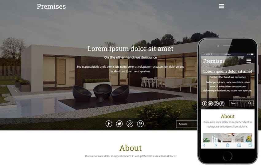 Premises a Real Estates Category Flat Bootstrap Responsive  Web Template Mobile website template Free