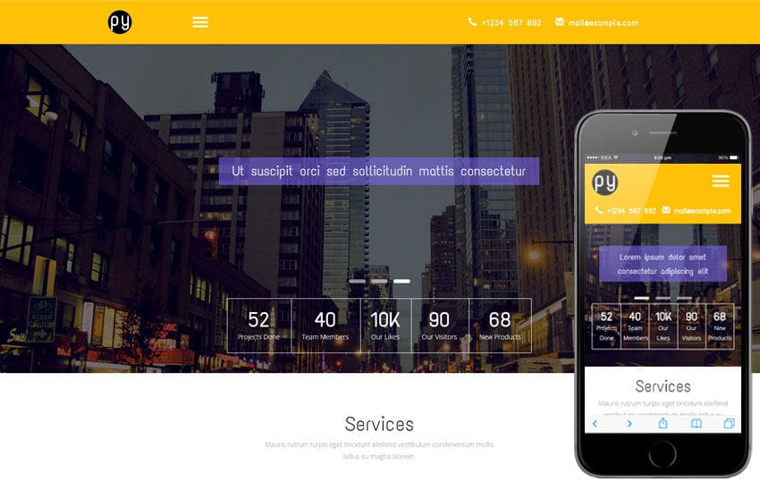 Py a Corporate Category Flat Bootstrap Responsive Web Template Mobile website template Free