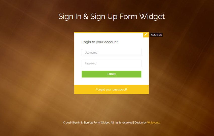 Sign In and Sign Up Form Flat Responsive Widget Template Mobile website template Free