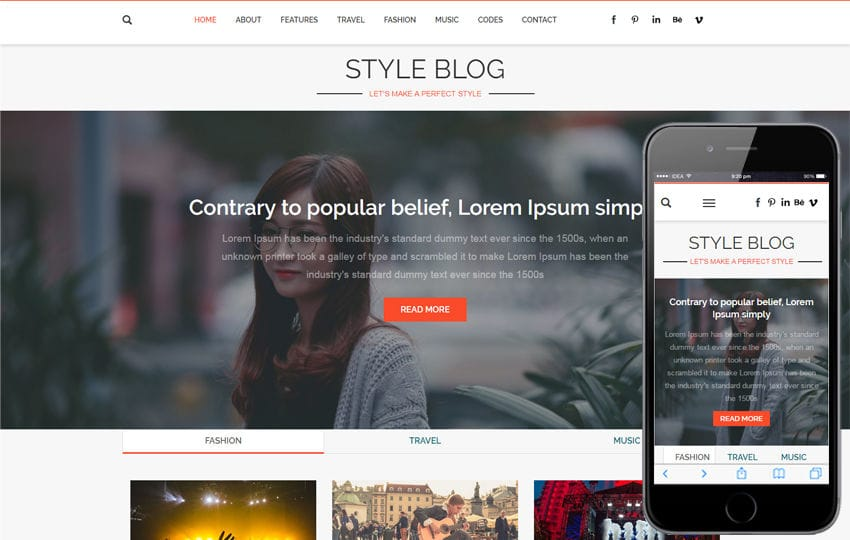 personal blog a blogging category flat bootstrap responsive web