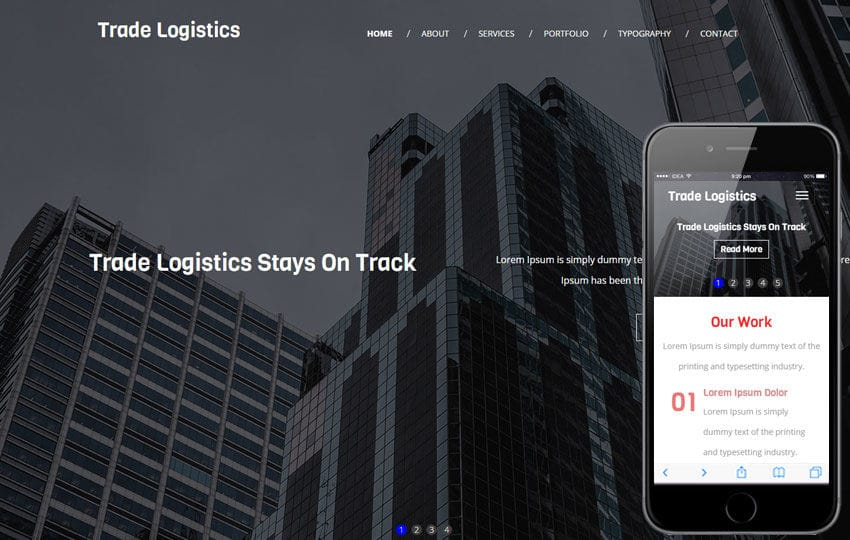 Trade Logistics A Corporate Category Flat Bootstrap Responsive  Web Template Mobile website template Free