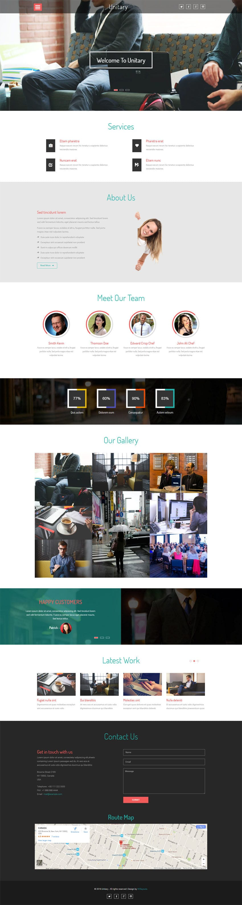 Unitary a Corporate Category Flat Bootstrap Responsive web
