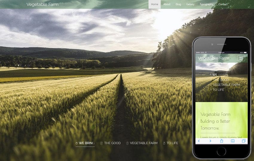 Vegetable Farm An Agriculture Category Flat bootstrap Responsive  Web Template Mobile website template Free