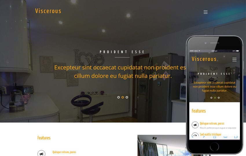 Viscerous an Interior Category Flat Bootstrap Responsive Web Template
