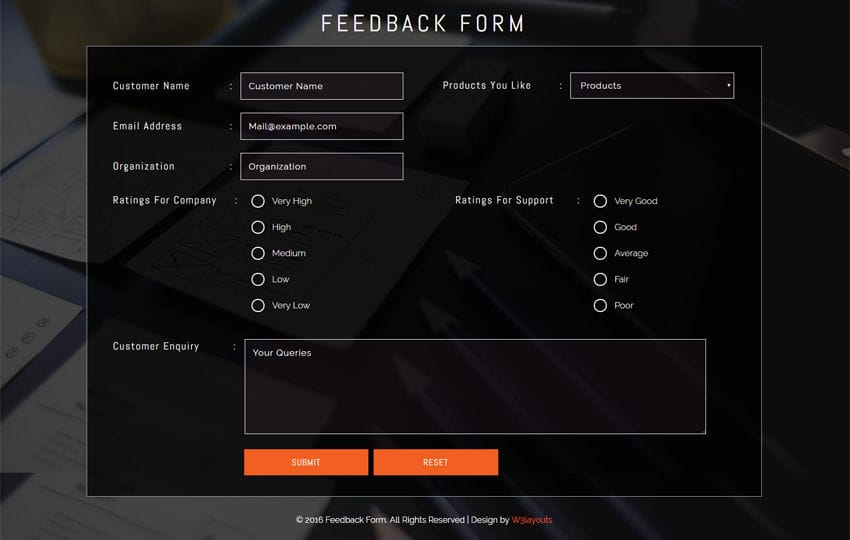 Great Feedback Form Widget Intended For Feedback Form Template Free