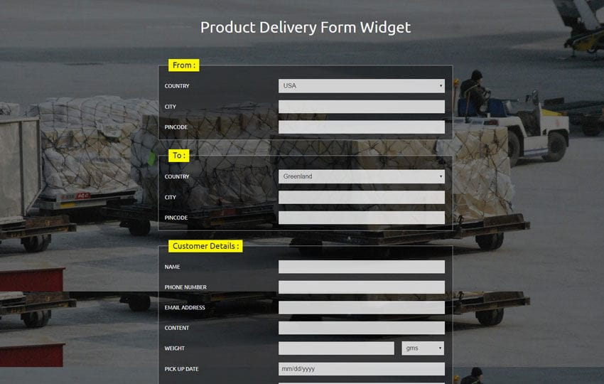 W3layouts  Delivery Form Template