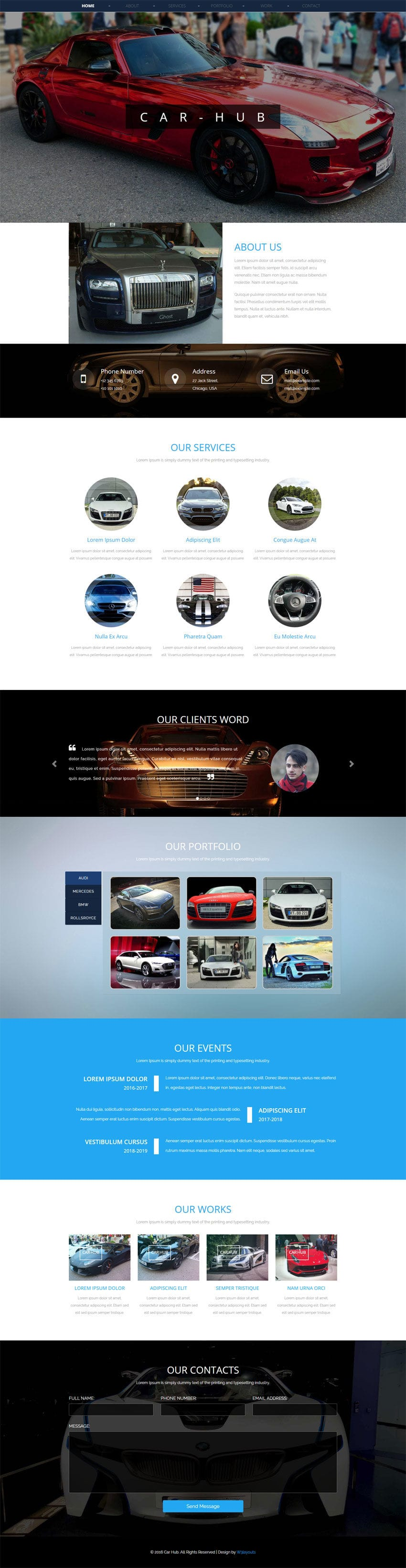 Car Hub An Automobile Category Bootstrap Responsive Web Template