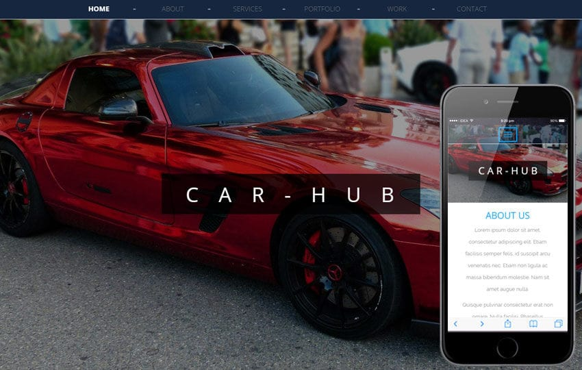 Car Hub An Automobile Category Bootstrap Responsive Web Template Mobile website template Free