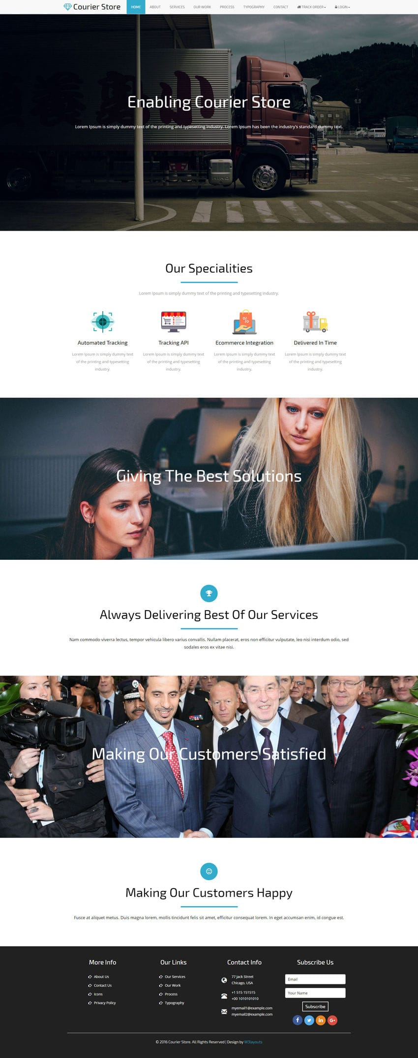 Courier Store a Corporate Business Bootstrap Responsive Web Template