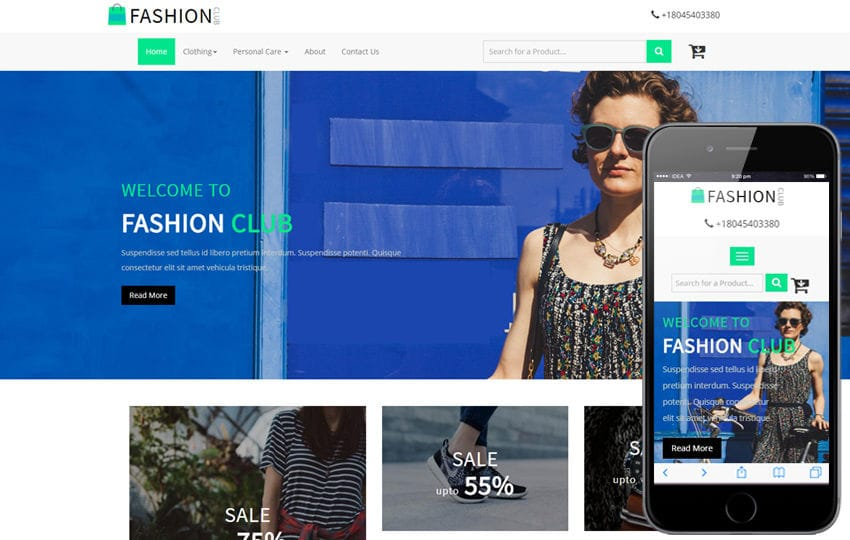 Fashion Club An Ecommerce Online Ping Bootstrap Responsive Web Template