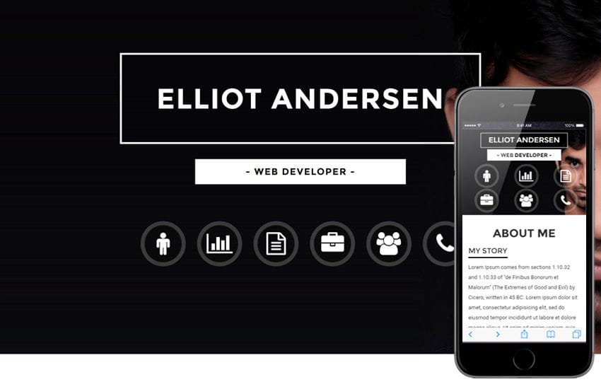 Opulent a Personal Category Bootstrap Responsive Web Template Mobile website template Free