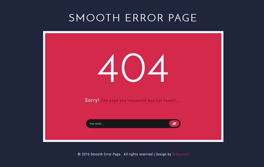 404 Page not Found Mobile Website Templates