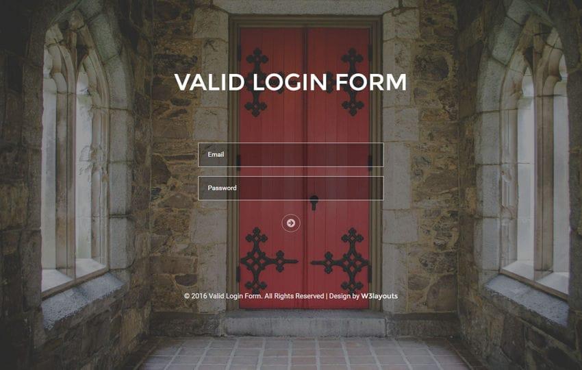 Valid Login Form A Flat Responsive Widget Template