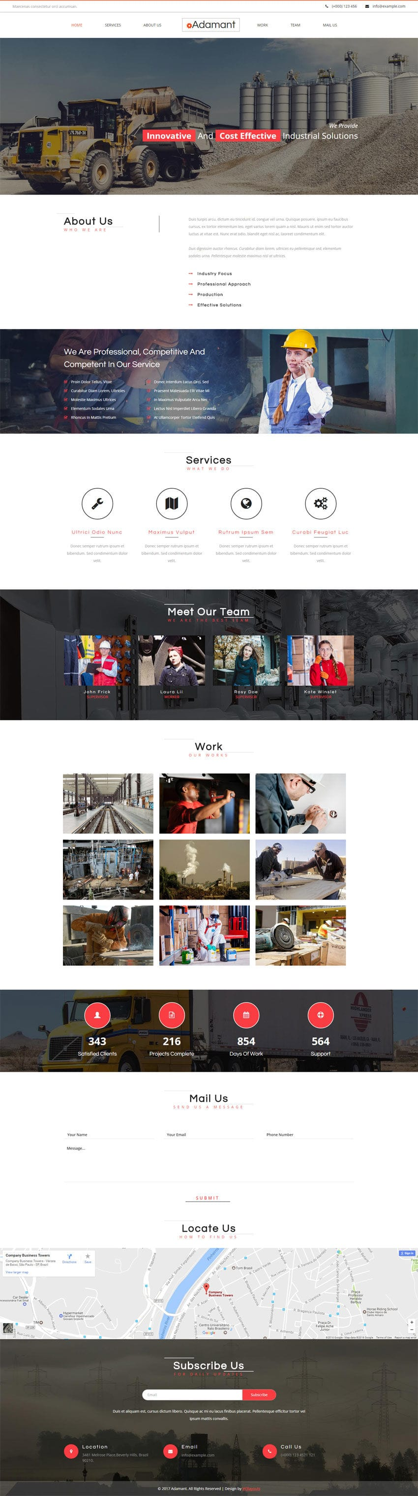 Adamant an Industrial Category Flat Bootstrap Responsive