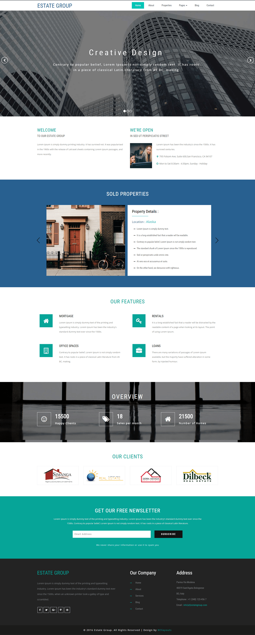 Estate Template | Estate Group A Real Estate Category Bootstrap Responsive Web Template