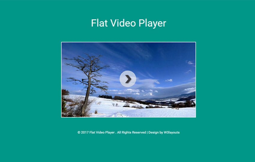 Flat Video Player Responsive Widget Template Mobile website template Free