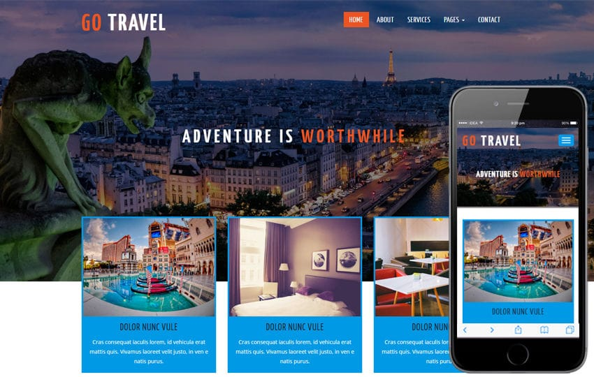 Go Travel a Travel Category Flat Bootstrap Responsive Web Template Mobile website template Free
