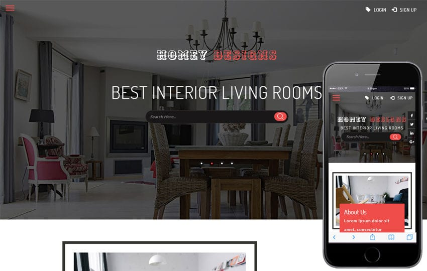 Homey Designs an Interior Category Flat Bootstrap Responsive Web
