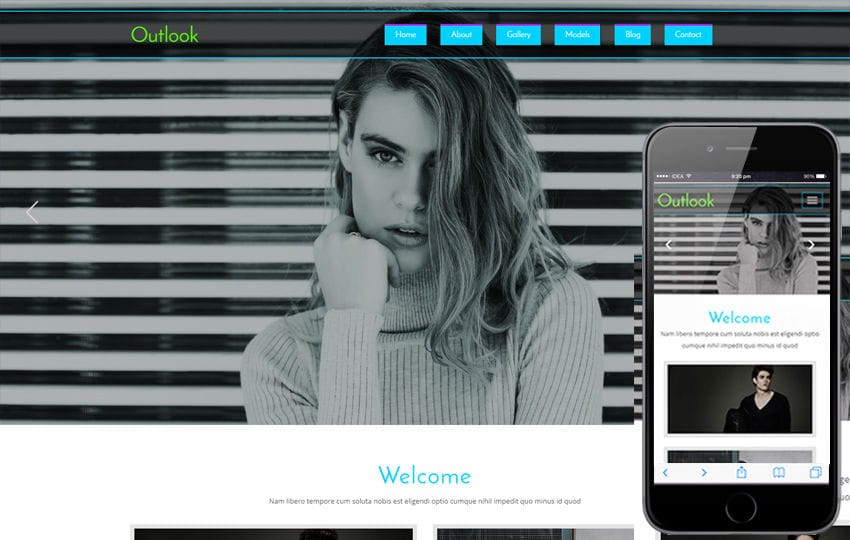 Outlook a Fashion Category Flat Bootstrap Responsive Website Template Mobile website template Free