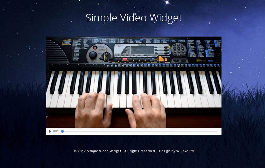 Simple Video Widget Flat Responsive Widget Template