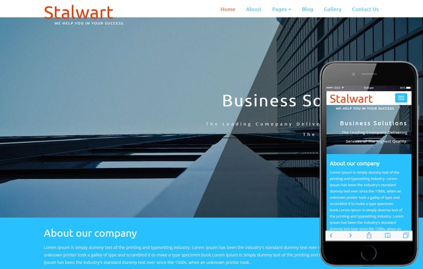 Corporate business w3layouts stalwart a corporate category flat bootstrap responsive web template mobile website template free flashek Gallery