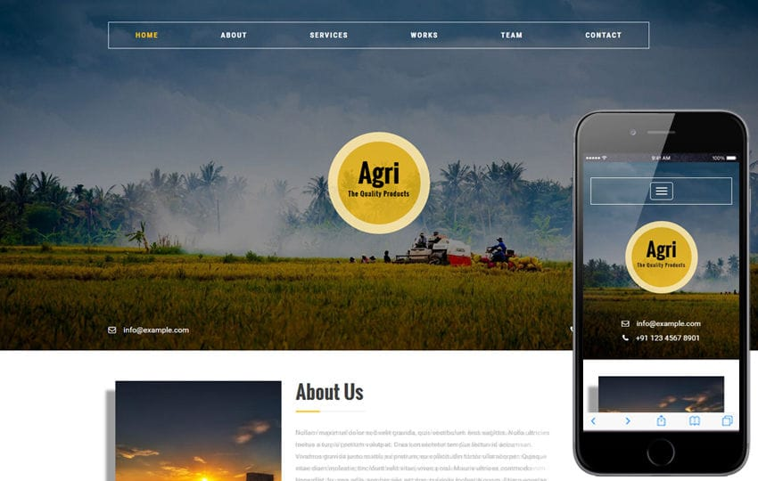 Agri an Agriculture Category Flat Bootstrap Responsive Web Template Mobile website template Free