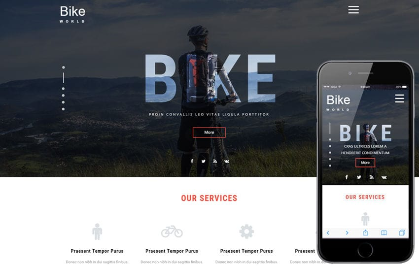 Bike World a Sports Category Flat Bootstrap Responsive Web Template Mobile website template Free