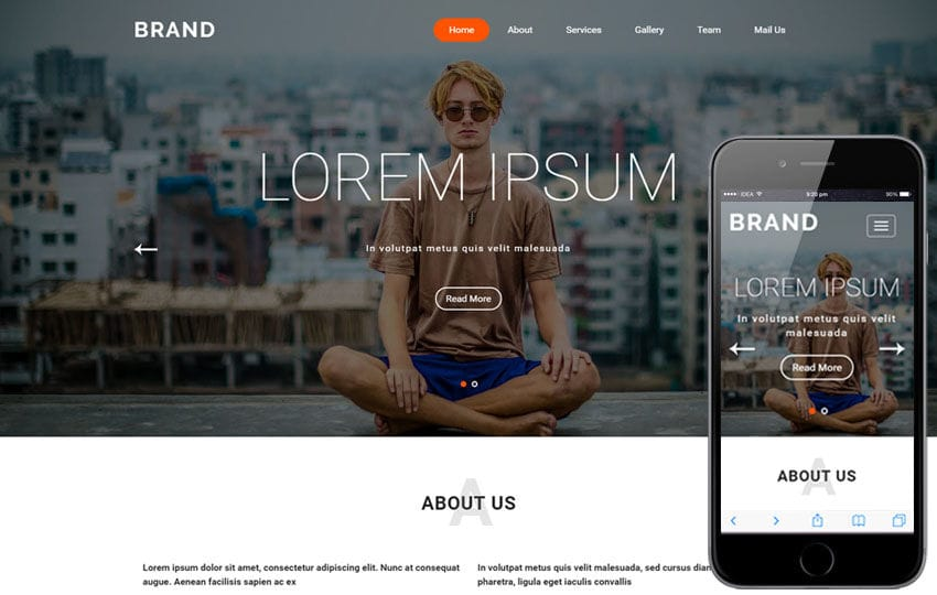 Brand a Fashion Category Flat Bootstrap Responsive Web Template Mobile website template Free