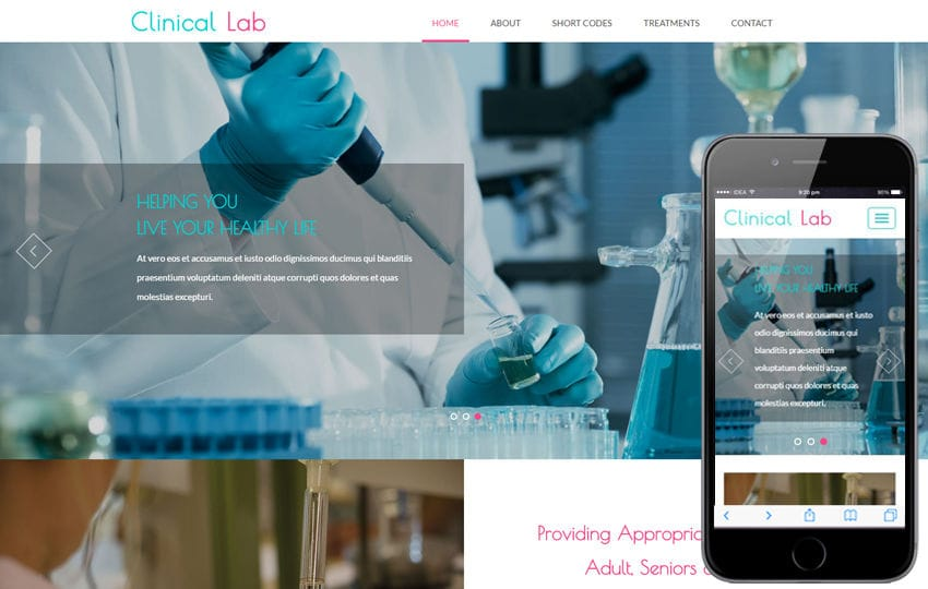 Clinical Lab a Medical Category Flat Bootstrap Responsive Web Template Mobile website template Free