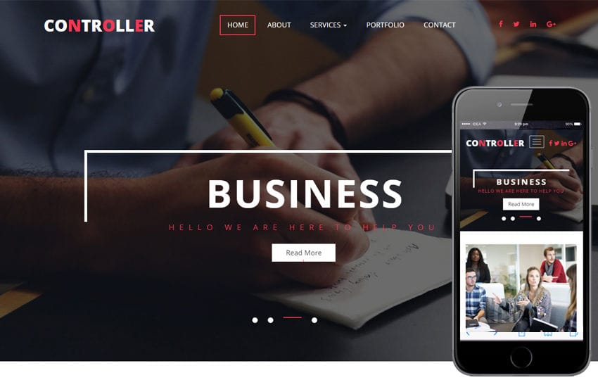 Controller a Corporate Category Flat Bootstrap Responsive Web Template Mobile website template Free