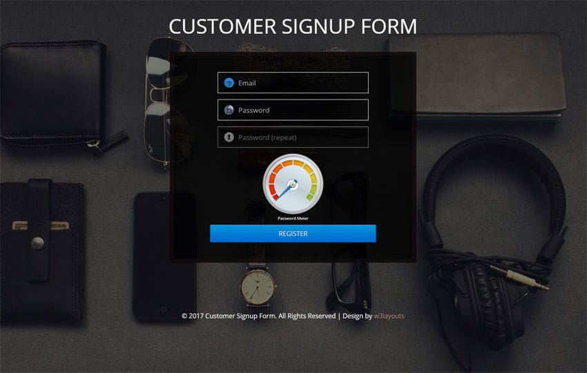 Customer Signup Form Flat Responsive Widget Template Mobile website template Free