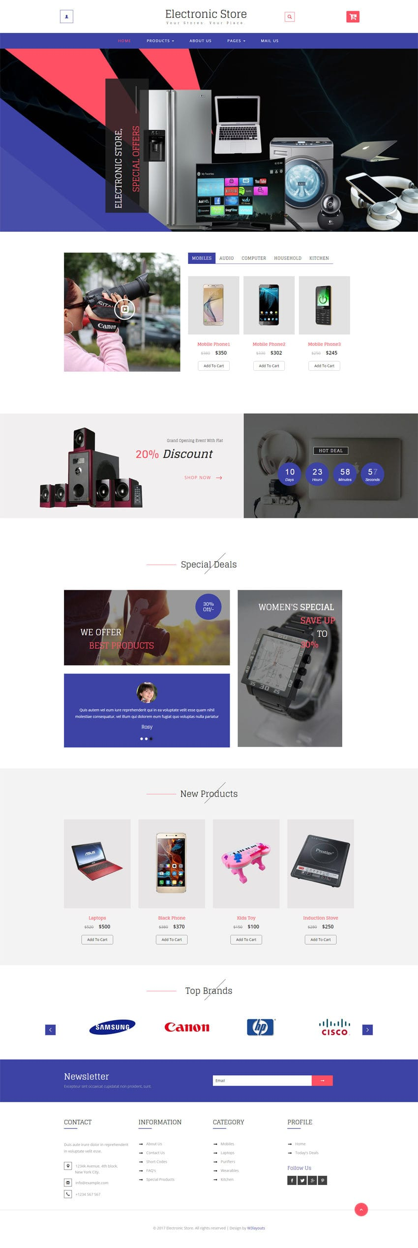 electronic store a ecommerce online shopping category bootstrap