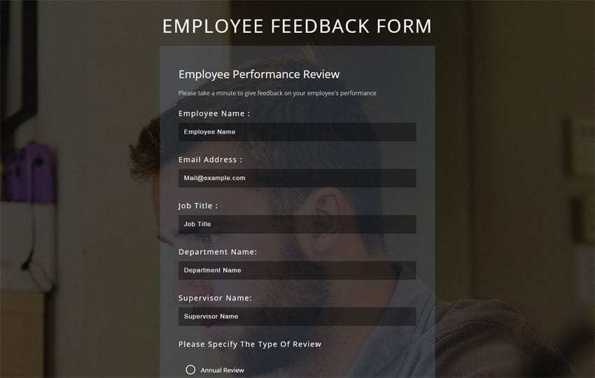 Employee Feedback Form A Flat Responsive Widget Template  Free Feedback Form