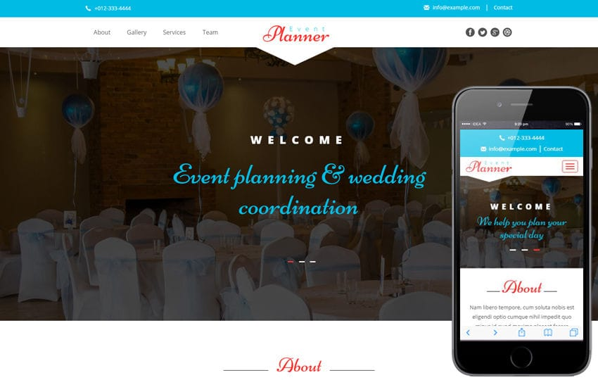 Event Planner a Wedding Category Flat Bootstrap Responsive Web Template Mobile website template Free