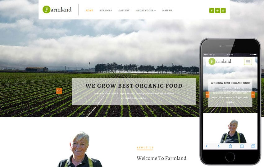 Farmland an Agriculture Category Flat Bootstrap Responsive Web ...