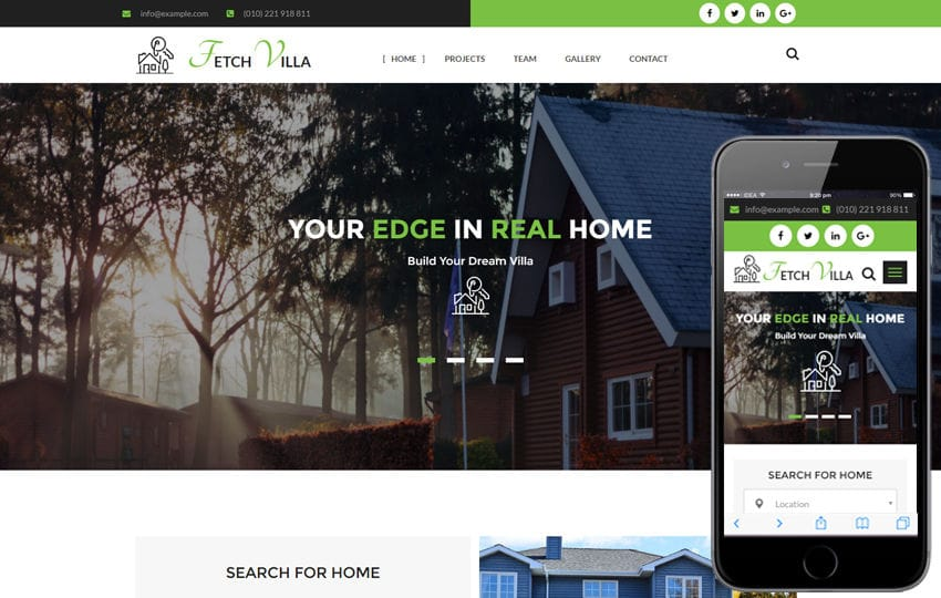 Fetch Villa A Real Estate Category Flat Bootstrap Responsive Web