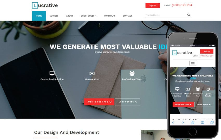 Lucrative a Corporate Business Category Flat Bootstrap Responsive Web Template Mobile website template Free