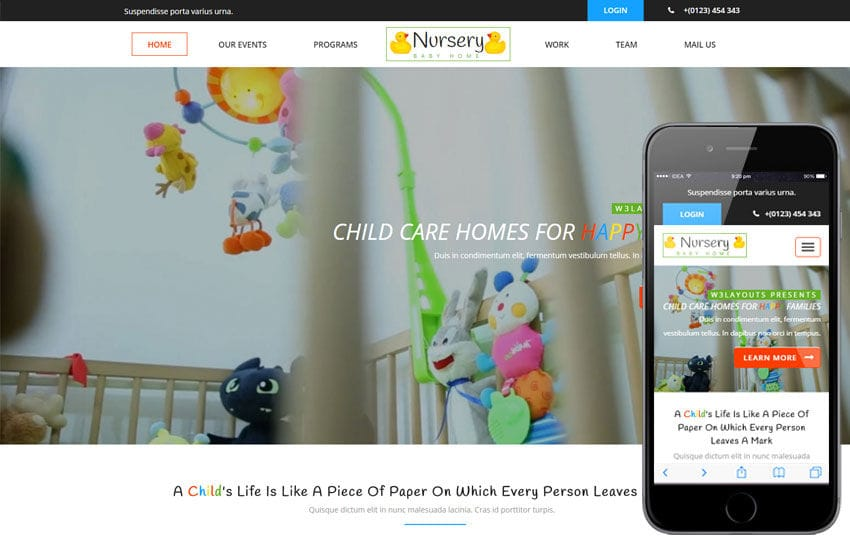 Nursery A Society And People Category Flat Bootstrap Responsive Web Template Mobile Website Free