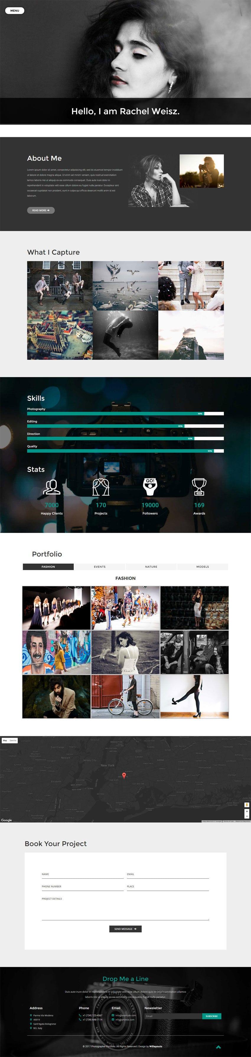 Photographer Portfolio Flat Bootstrap Responsive Web Template