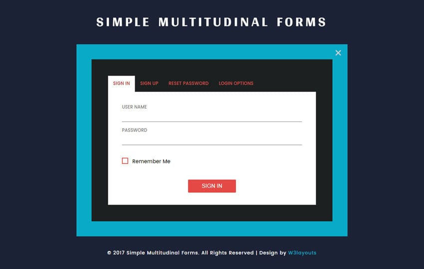 Signup Form Flat Template by w3layouts – Signup Template