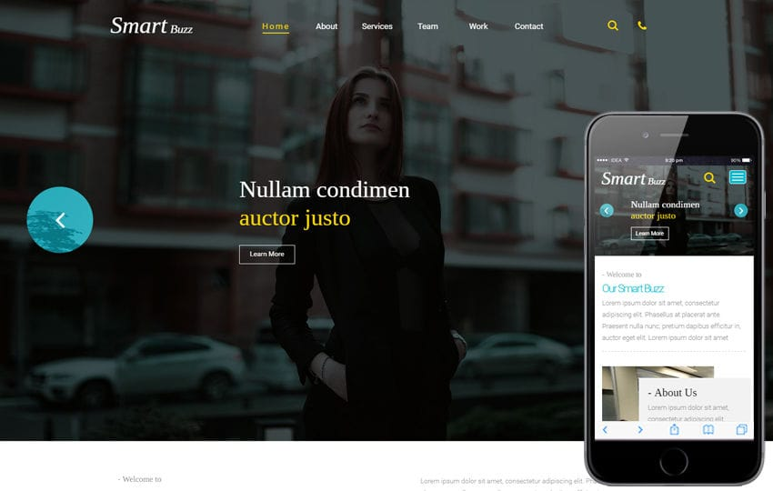 Smartbuzz a Corporate Business Category Flat Bootstrap Responsive web Template Mobile website template Free