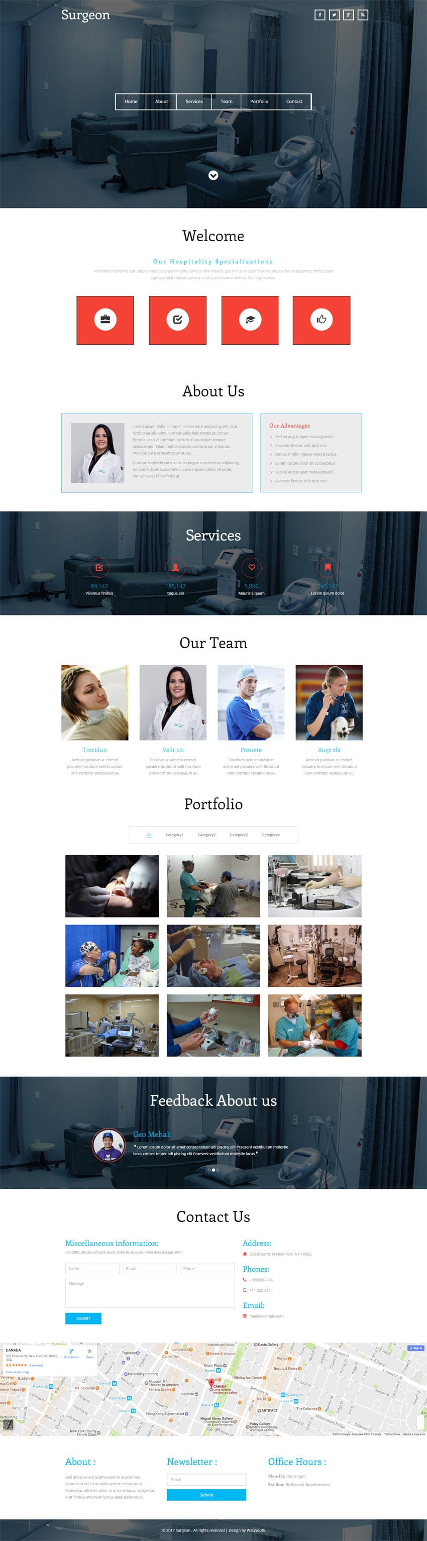 Surgeon a medical category flat bootstrap responsive web template pronofoot35fo Choice Image